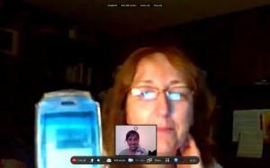 Skype date with the Moms (and Pops on the phone lol) during one of my trips