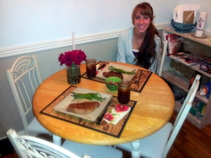 Dinner Time! sometimes Date night happens at home.