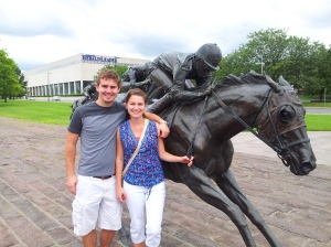Paul and Melanie seeing some Kentucky culture =)