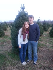 Here we are at the Tree farm looking for our first tree =)