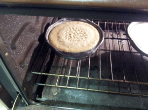 in the oven =)