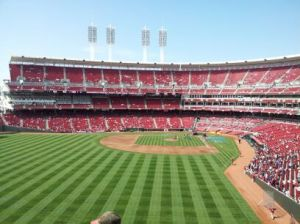 Perfect day for a game!  Look at that beautiful field!