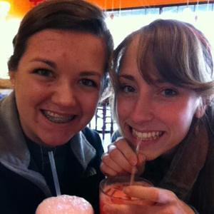 Enjoying Our Italian Cream Soda's at Bakery Blessings & Bookstore
