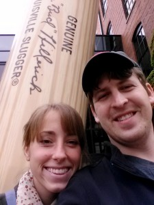 Part of our mini-vacation was touring the Louisville Slugger Museum & Factory  Will was in his element. =)