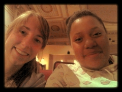 Kiki and I at the Kentucky Theater.  You feel snazzy just being in there!