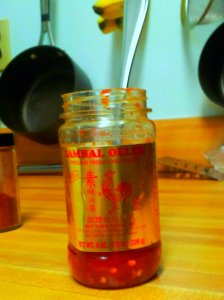 sriracha sauce - we use this as an ingredient in stuff almost as much as we use Franks on our food!