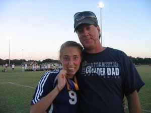 This will probably be lmy favorite picture of my dad and I for the rest of my life.  I had just one nationals, and bent it like beckham to score a corner kick.  AND my whole family came to Florida to see me!   Thanks for always cheering for me pops!  you always helped me pick out the best cleats =) and if it wasn't for all of your hours of practice with me I would have never scored that corner.