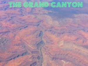 aerial view of the Grand Canyon.