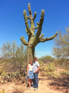 had to get a picture with a cactus!  We also saw dust devils and tumble weeds.