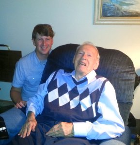 Will and his Grandpa.  He's so proud of his grandson =)