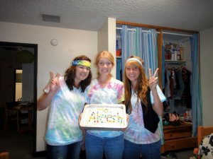 Surprising our other good friend/small group member Aleesha with a hippy birthday cake! We like shenanigans!