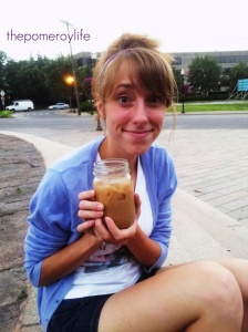 Got to meet a friend for coffee at the coffee shop in town!  I drank Chai in honor of Kayla in Ethiopia =)
