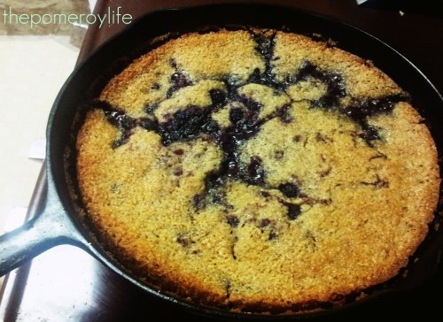 Wild Berry Cobbler =)  Tastes even better knowing you picked them yourself!