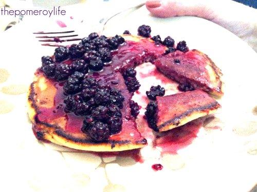 ....on pancakes