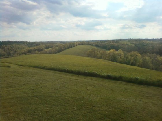 the view from the deck =) All that mowed area is his family's
