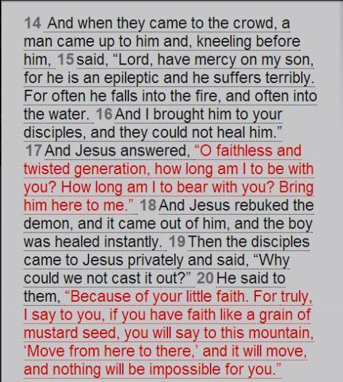 Matthew 17:14-21