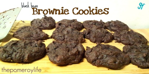 Black Bean Brownie Cookies