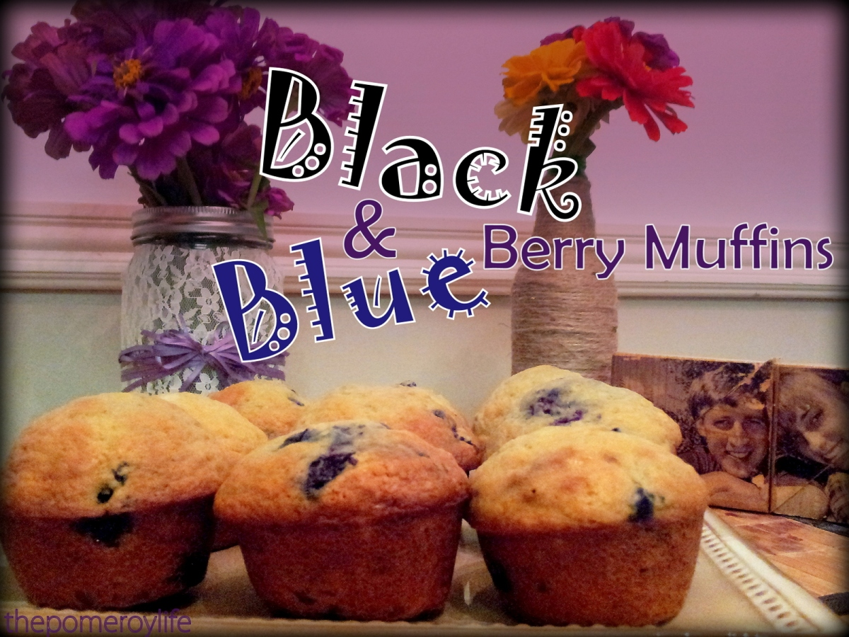 "Munchie Monday - ""Black & Blue"" Berry Muffins"
