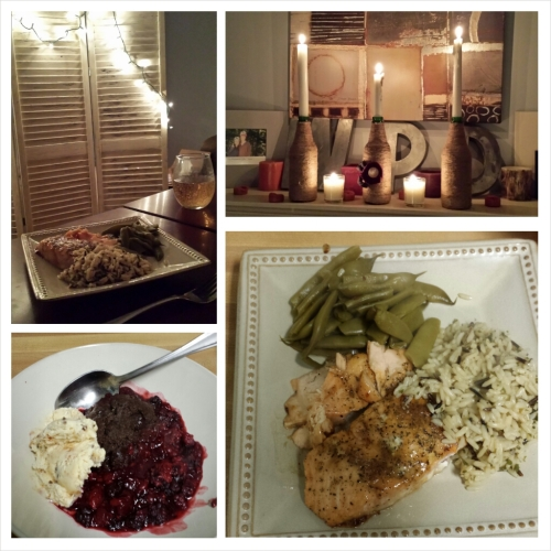 If you want the best salmon you will ever have... ask Will to cook it for you.  My dark chocolate raspberry cobbler wasn't shabby either.