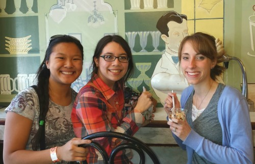 Here we are enjoying our ice cream from Mike's Ice Cream, apparently the oldest espresso bar in Nashville