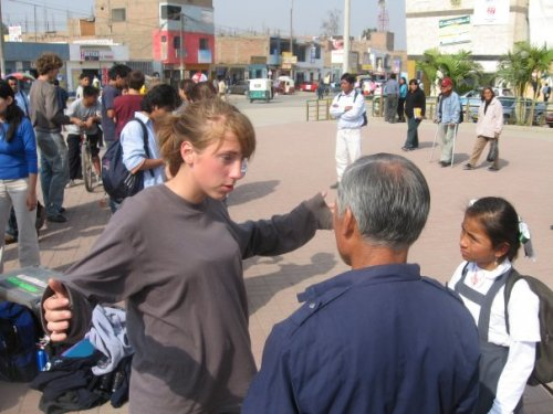 This is from my second trip to Peru.  3 years later in 2007.  Me talking about the cross.  I hope I never stop talking about it.