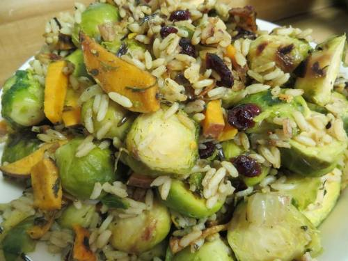 My Brussels Sprout Hash. A bit of winter dish, but let's be real… that's stuff is good any time of the year!